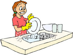 Woman clipart washing dish Kitchen Your Cleaning for Makeovers