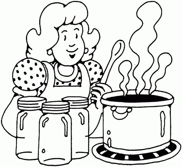 Kitchen clipart coloring Places com Pages Coloring Enjoyable