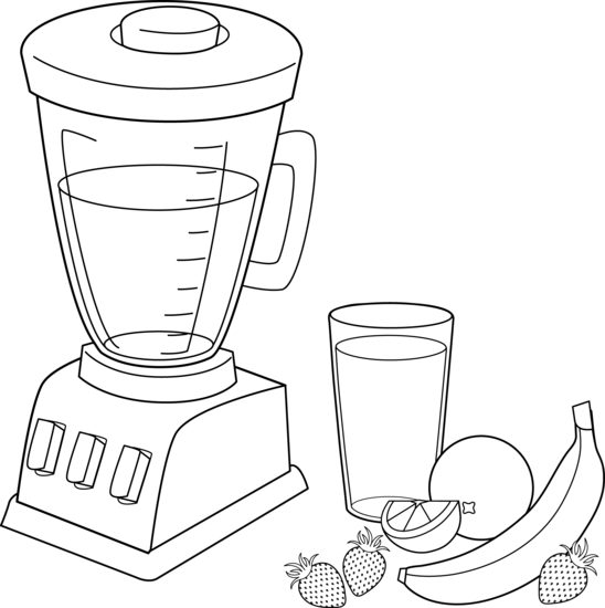 Kitchen clipart coloring Free Smoothies Coloring Fruit Smoothies