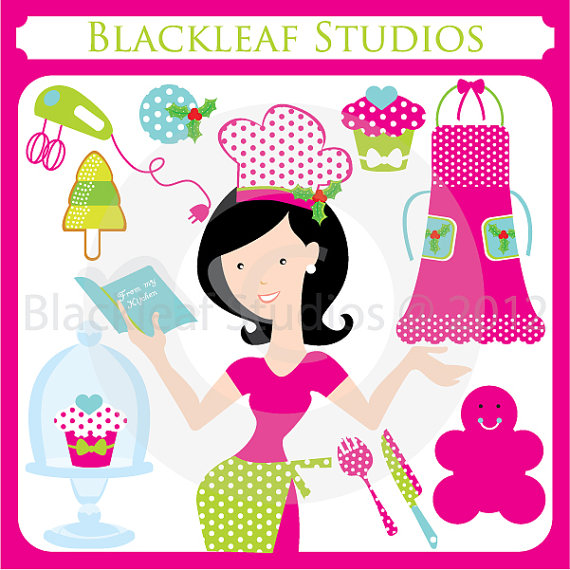 Baking clipart commercial cooking Woman Baking Instant chef Exchange
