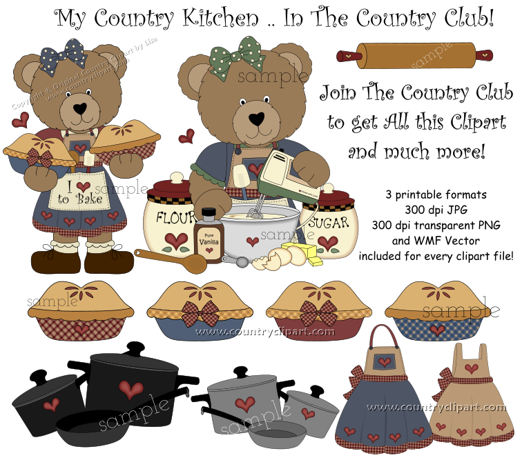 The Kitchen clipart country kitchen Baking Country Collection Clipart kitchen