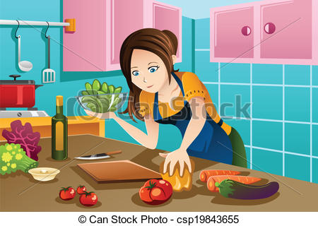 Kitchen clipart cooking contest Clipart food Vector in Woman
