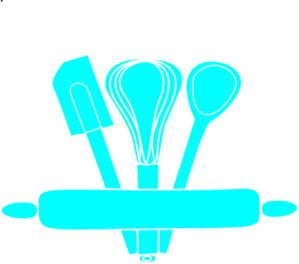 Kitchen clipart cooking equipment Vector Utensils Kitchen Clip Blue