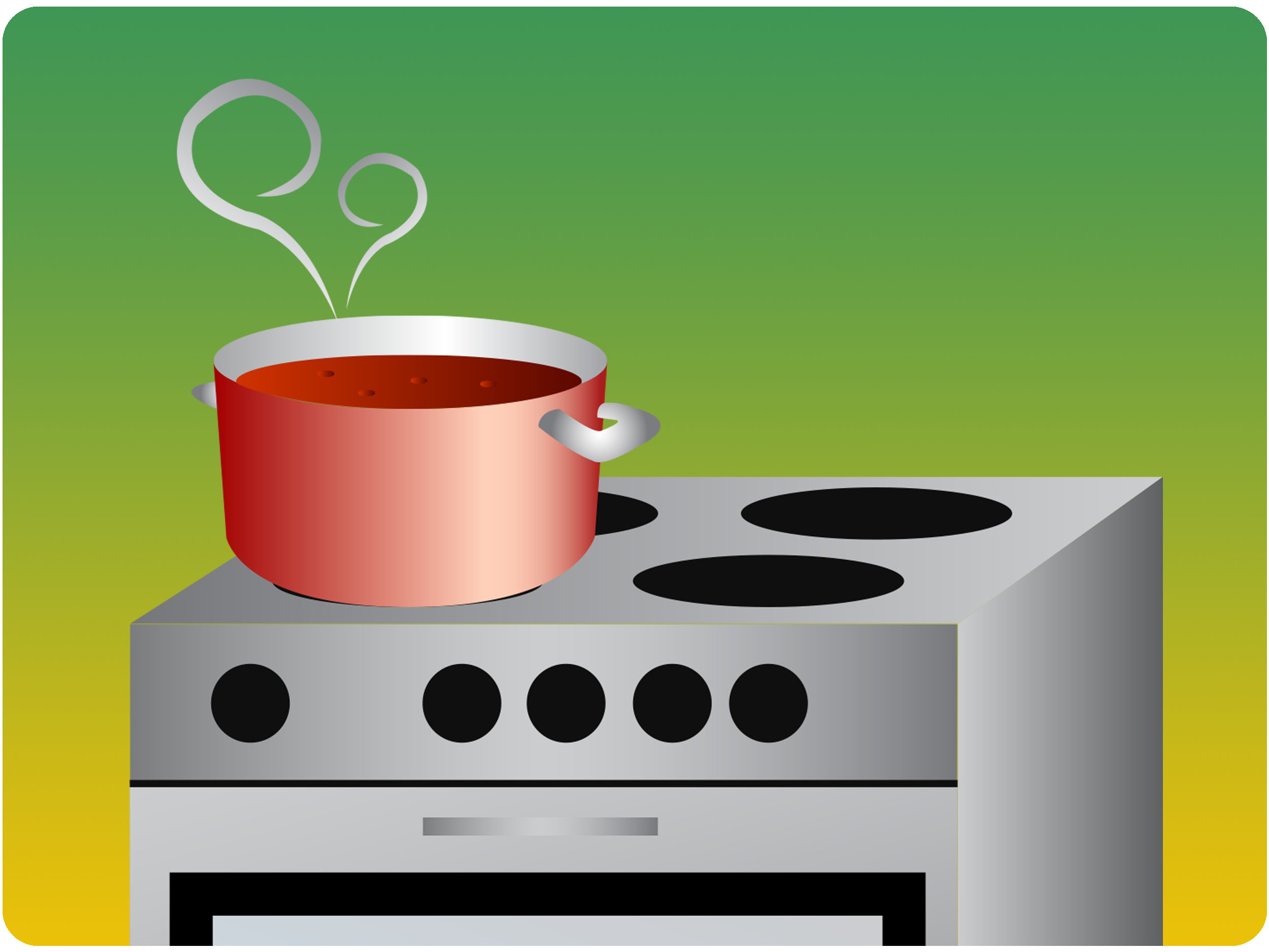 Gas Cooker clipart electric stove Reduce While (with  Cooking: