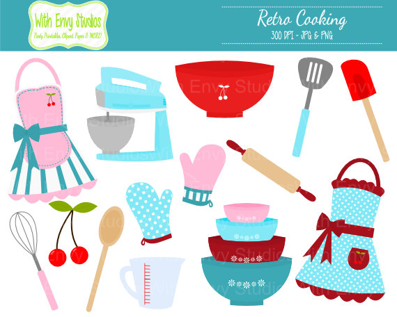 Baking clipart cooking utensil Clipart Clipart Retro OFF Like