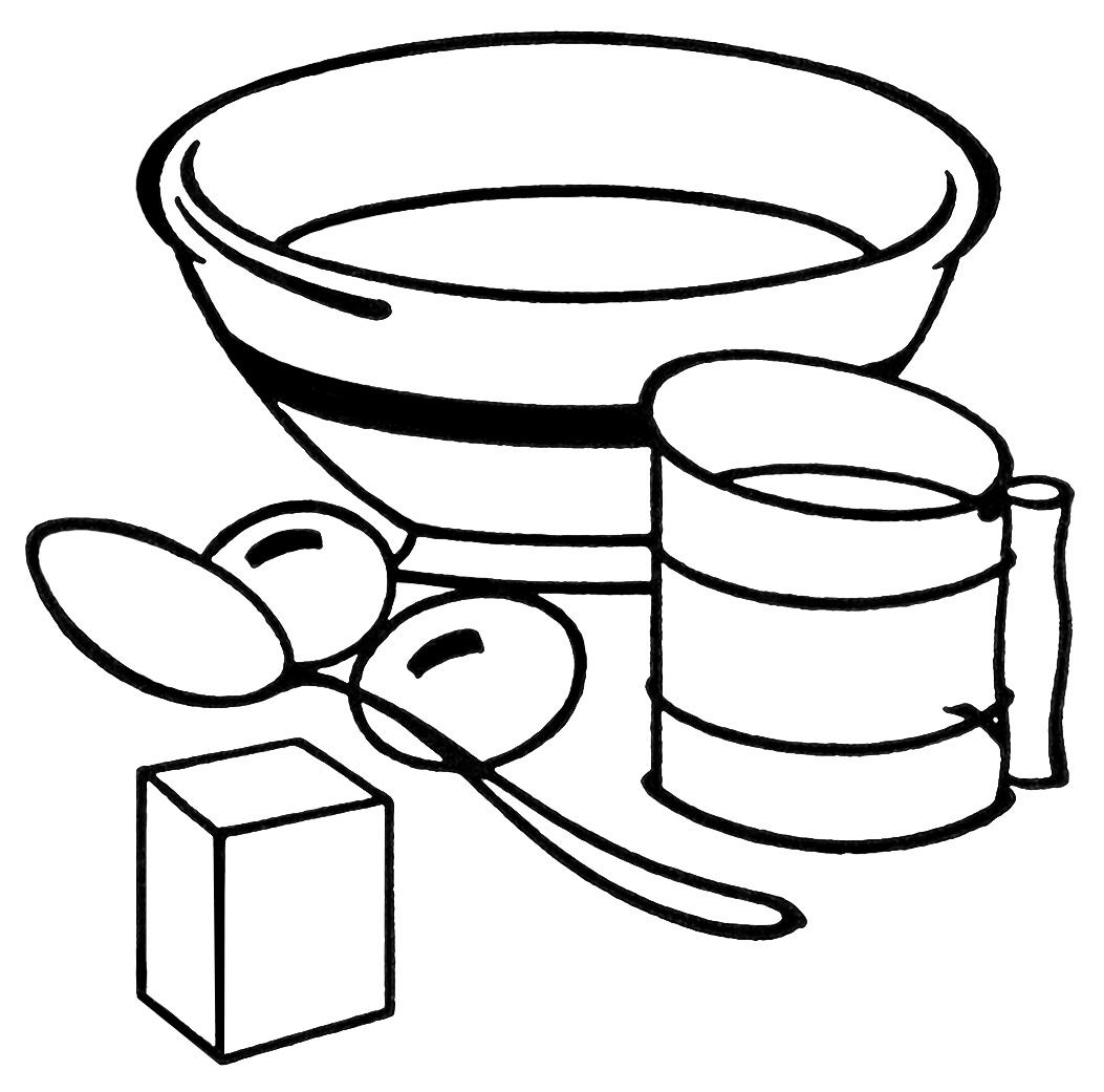 Cereal clipart baking bowl ~ vintage digital Shop free