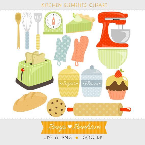 Baking clipart cooking utensil Clipart Art Kitchen // Clipart