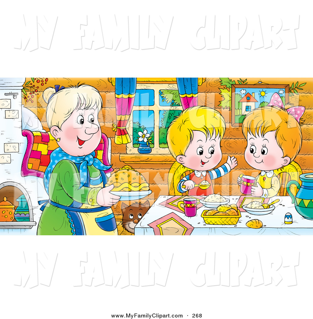 The Kitchen clipart dining room Art Clipart Happy dining clipart