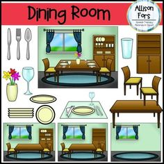 The Kitchen clipart dining room Home (Living Dining Clip