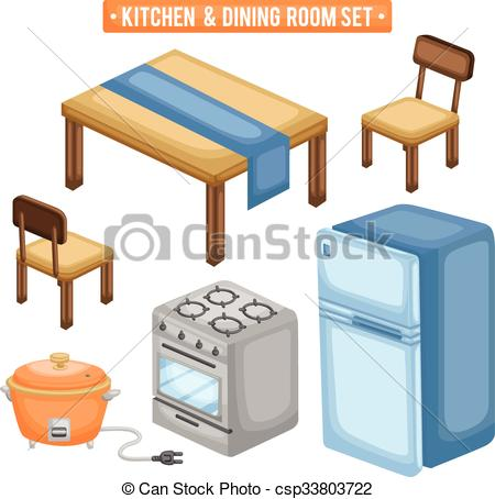 The Kitchen clipart dining room Items Illustration Kitchen Dining Items