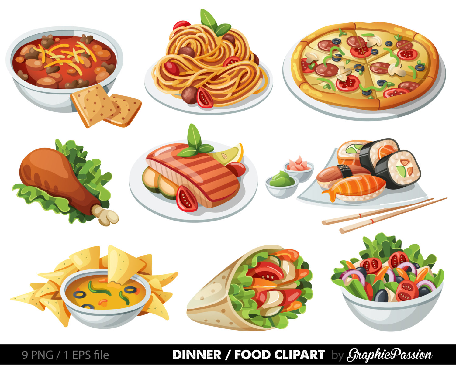Collage clipart cool music 1500x1208 Food Dood clip art
