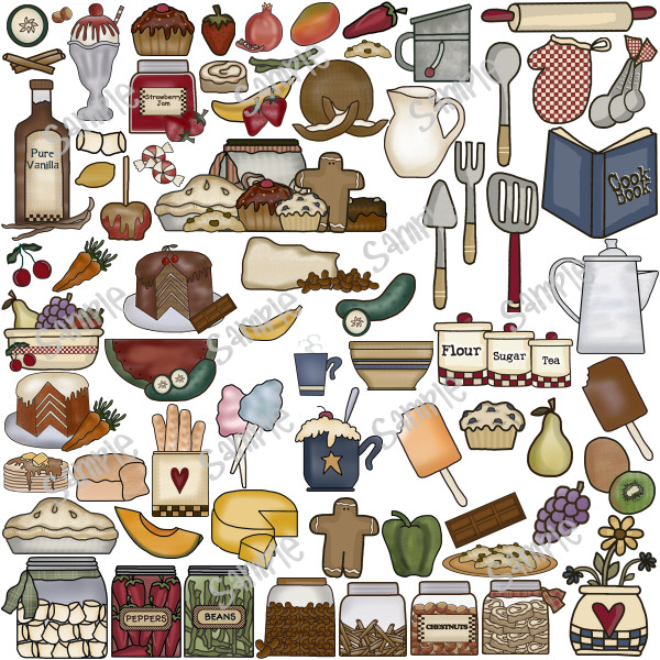 Country clipart country kitchen Country baking kitchen cooking Collection