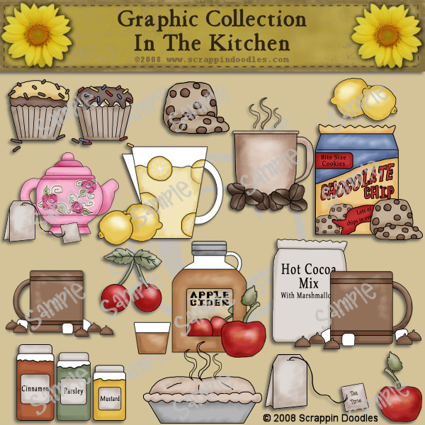 Country clipart grandma Free Clip country kitchen Vintage