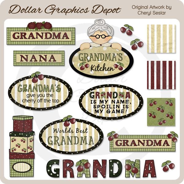 Kitchen clipart grandma's #7