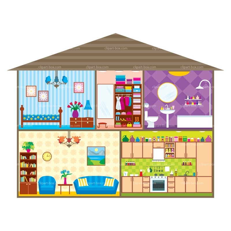 Hosue clipart my house Clipart rooms Clipart Rooms of