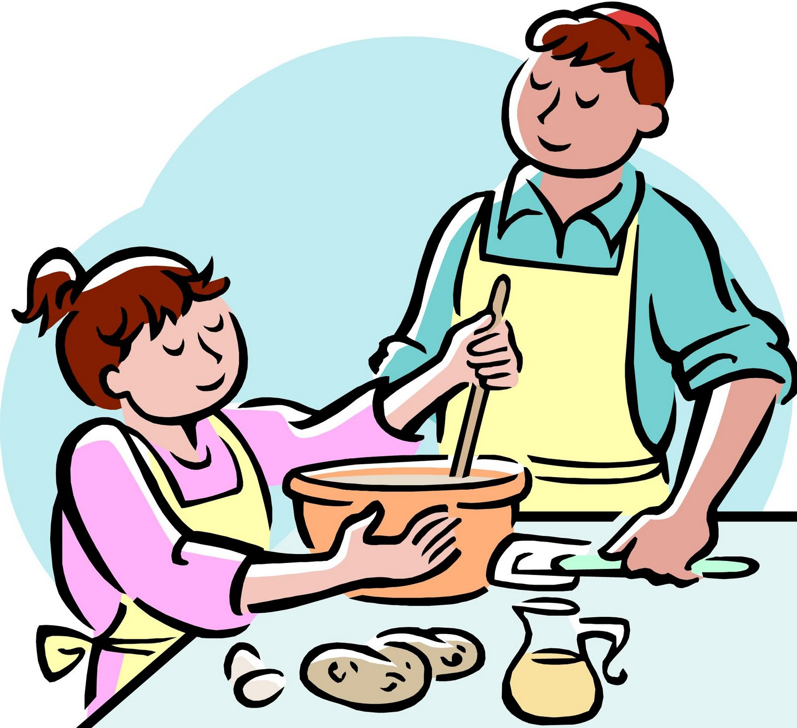 Mommy clipart cooking Black cooking Cooking clipart free
