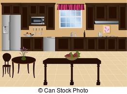 Kitchen clipart kitchen background And royalty  Kitchen Illustrations