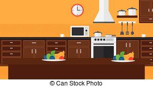 Kitchen clipart kitchen background Of Background of kitchen Vector