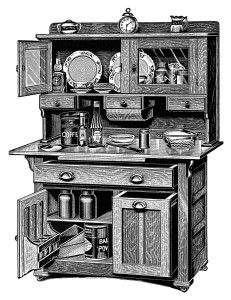 The Kitchen clipart kitchen cabinet 15 and cabinet vintage images
