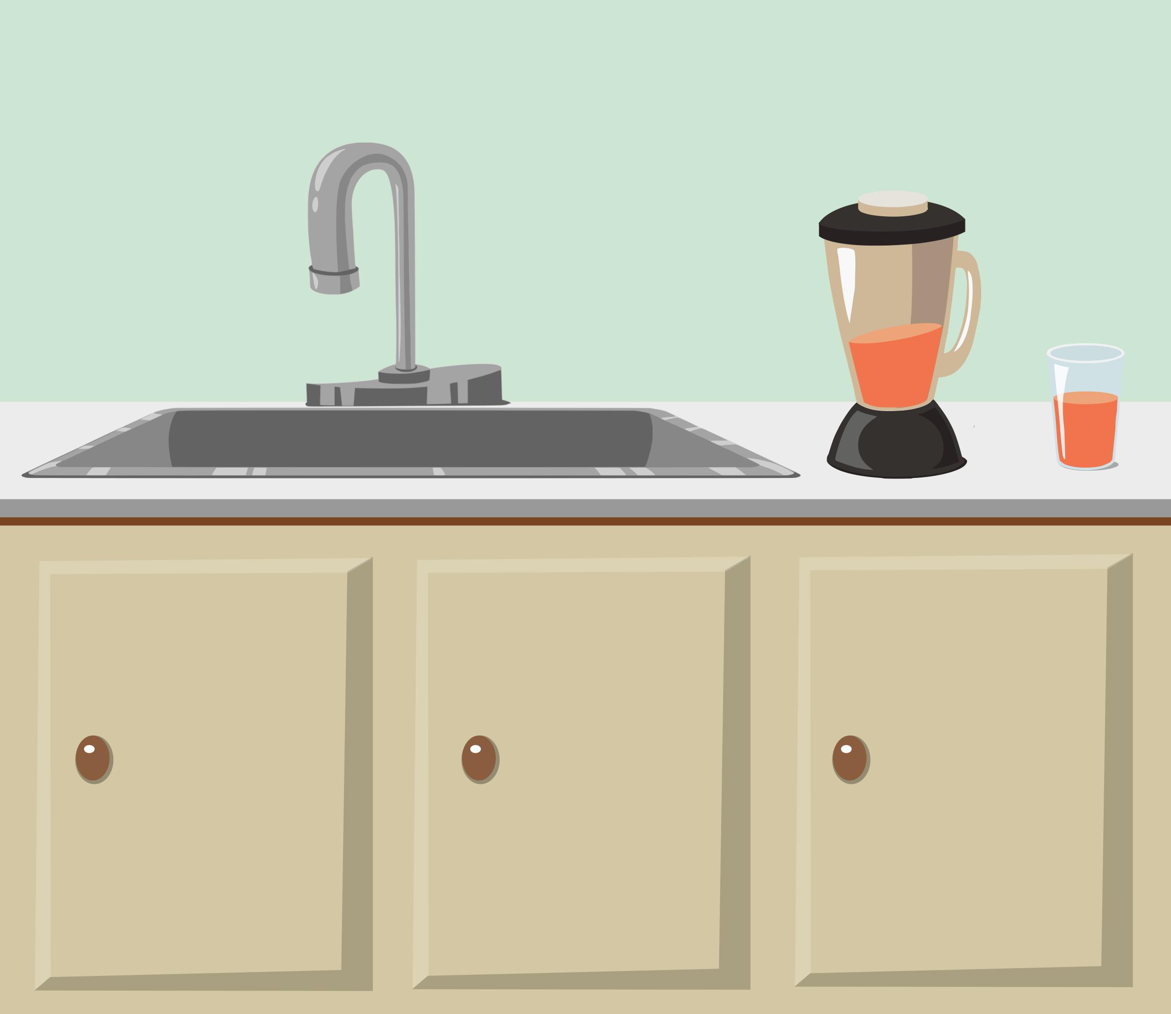 Kitchen clipart kitchen counter Glitch Kitchen sink from counter