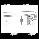 Kitchen clipart kitchen counter Counter—with Kitchen a Counter Kitchen