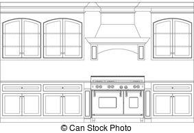 Kitchen clipart kitchen furniture Kitchen  plan royalty kitchen