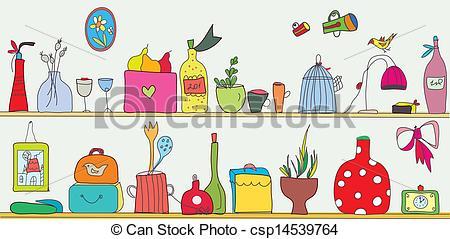 Kitchen clipart kitchen shelf Kitchen utensils Art csp14539764 and