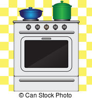 Kitchen clipart kitchen stove White Kitchen stove stove Kitchen