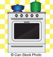 Kitchen clipart vector art Stove stove of  Vectors