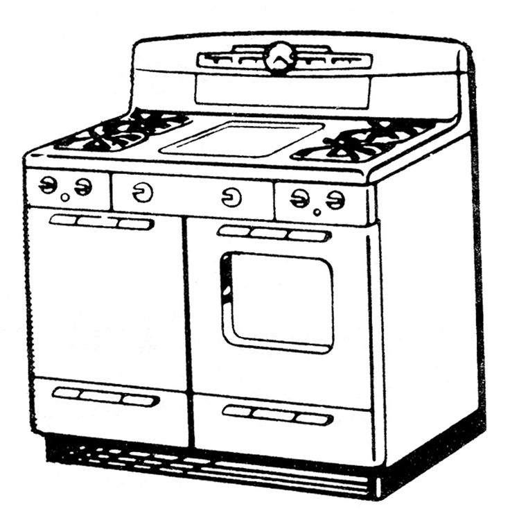 Kitchen clipart kitchen stove Kitchen and Pin about Cooking
