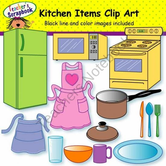 Kitchen clipart kitchen stuff Free about on 269 Clip