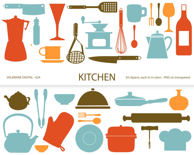 Kitchen clipart kitchen supply Utensils clipart scrapbook download art