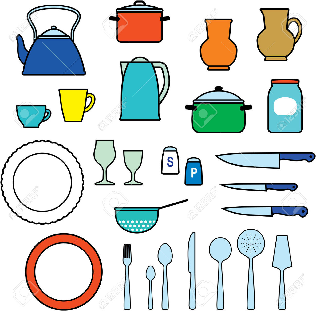 Kitchen clipart kitchen supply Parts Art Kitchen01 A kitchen