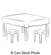 Kitchen clipart kitchen table Dining collection eating Art Clip