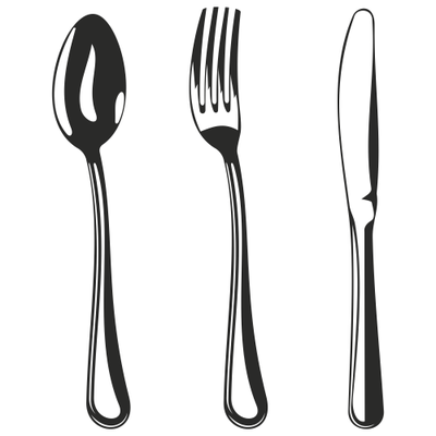 Silver clipart cooking spoon White And Black Kitchen Kitchen