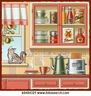 Kitchen clipart kitchen window Windows 69 & Door and