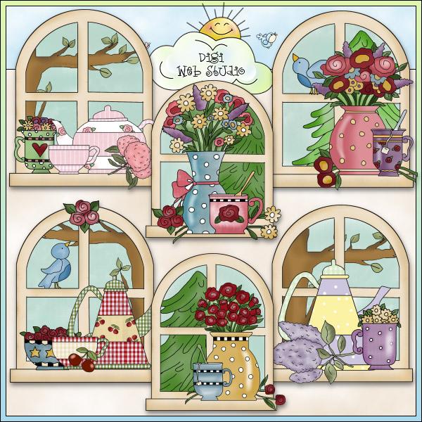 Kitchen clipart kitchen window NE My NE 1 Digi