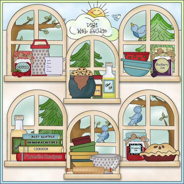 Kitchen clipart kitchen window Crafts Digi Cheryl Cheryl NE
