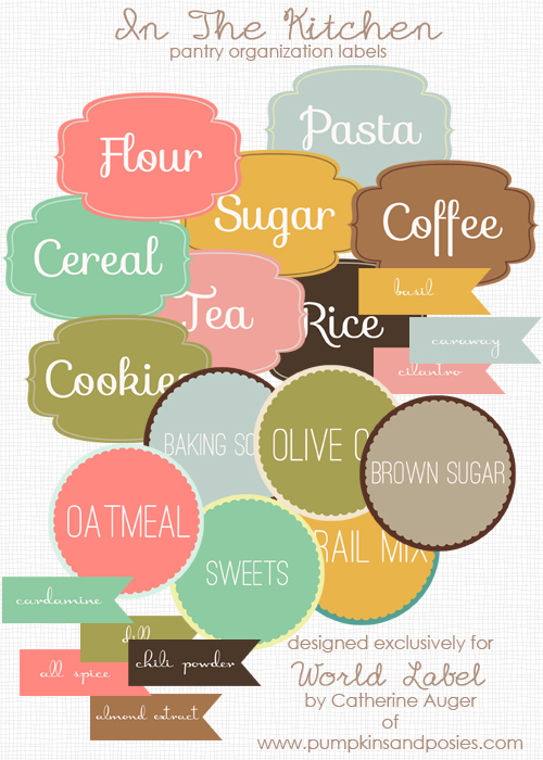 Kitchen clipart label Templates Organizing Kitchen Free and