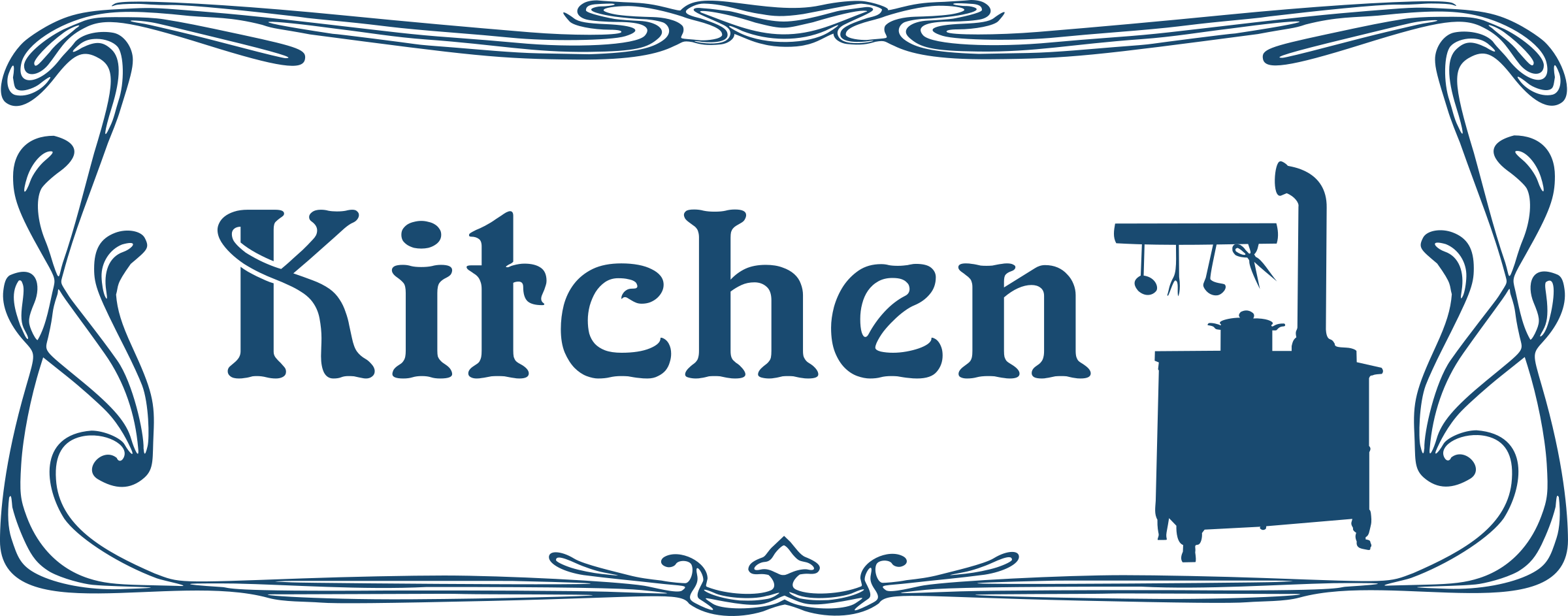 Door clipart restaurant kitchen Logo Kitchen Clipart Kitchen Printable