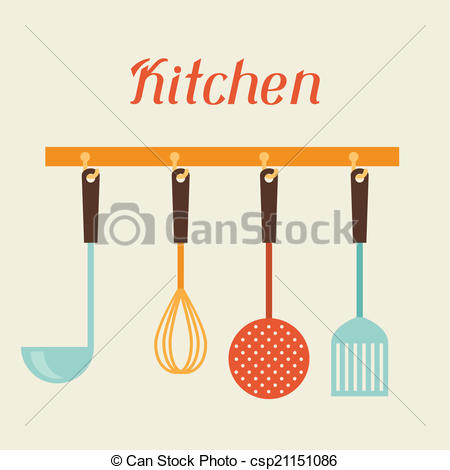 Kitchen clipart logo Strainer and spatula utensils restaurant