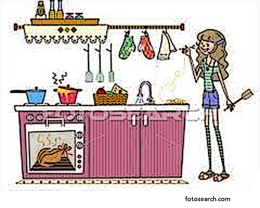 The Kitchen clipart kitchen cleaning Hard The Cleaning stuff: maid