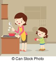 Baking clipart mom Child  Clip mother cooking