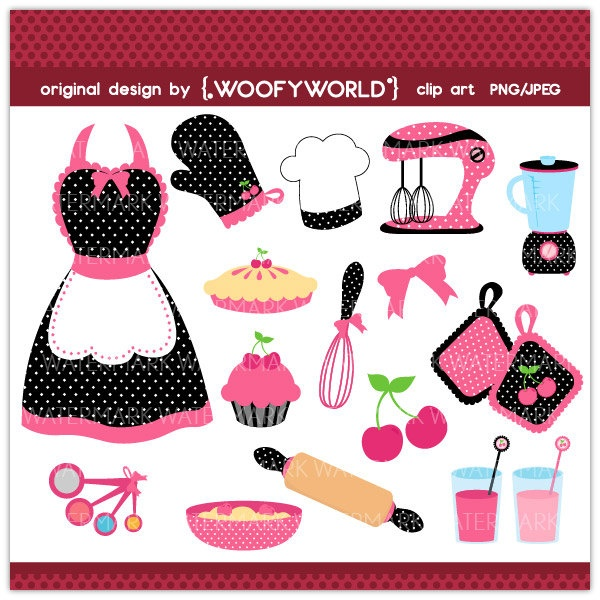 Frosting clipart pink apron Black Diva and Clipart on