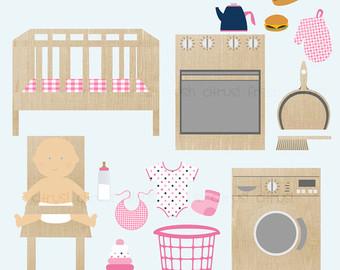 Kitchen clipart preschool Clipart Art Clip clipart Laundry