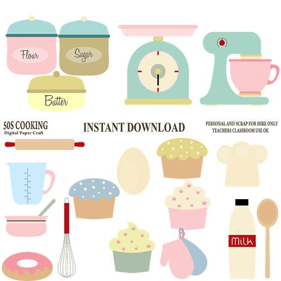Kitchen clipart printable Art on Cooking Etsy 112