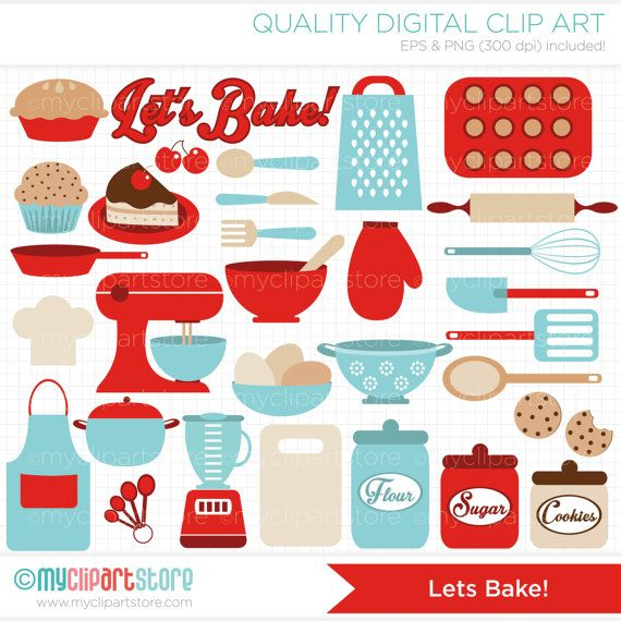 Kitchen clipart printable Pinterest / Instant Clip Download