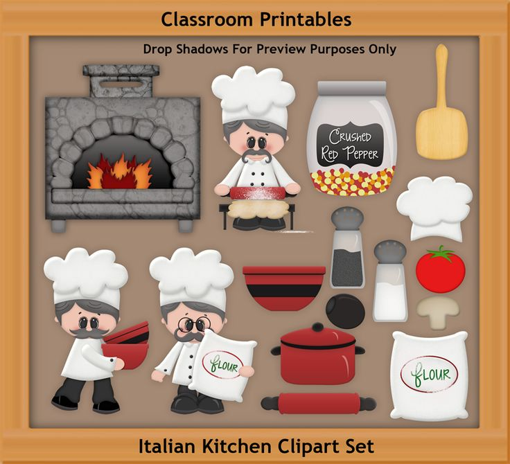 Kitchen clipart printable Clipart Designers digital Scrapbooking projects