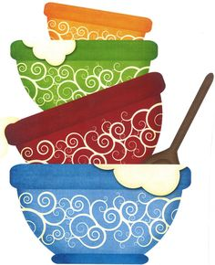 Bowl clipart stacked Kitchen food EPS  Images