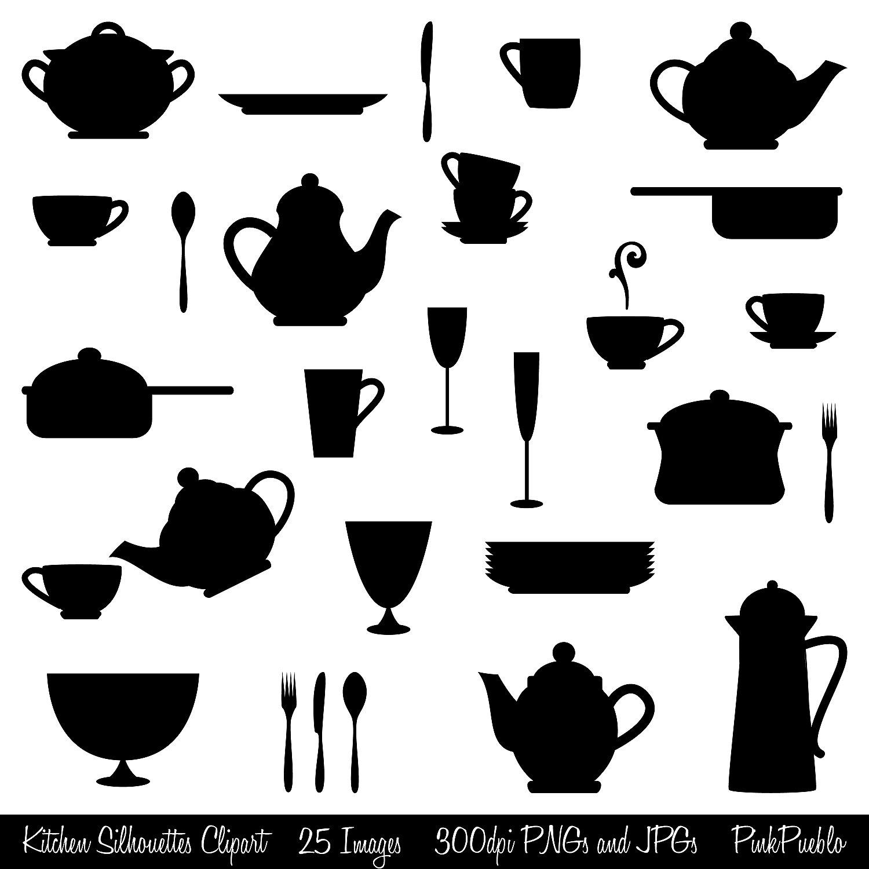 Kitchen clipart silhouette Art Clipart Kitchen Kitchen Clip